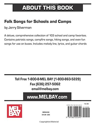 Mel Bay Folk Songs for Schools and Camps: Jerry Silverman ...