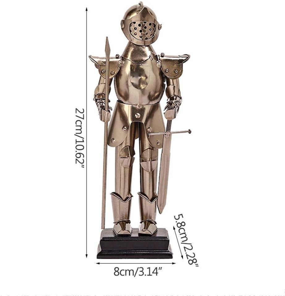 Escultura Estatua,Retro Europeo Moderno Soldado Romano Modelo Estatua De Metal Escultura De Hierro Vintage Figurita De Regalo Novedad para Ornamento Artesanía Artes Hogar Decoración Decoración Sal