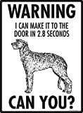 Warning! Scottish Deerhound - I can make it to the door Aluminum Dog Sign
