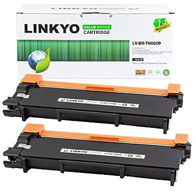 LINKYO Valueline Replacement Brother TN660 TN-660 TN630 High Yield Black Toner Cartridge for HL-L2340DW HL-L2320D MFC-L2700DW MFC-L2720DW DCP-L2520DW (2-Pack)