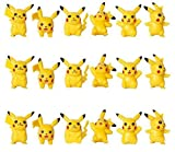 ToysoutleUSA Pokemon Pikachu Cake Topper | 18 pcs | Mini Toy Figures for Cupcake Decorations | 24 Bonus Stickers