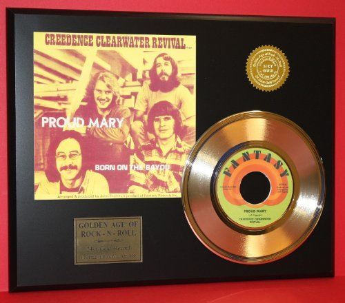 (Creedence Clearwater Revival 24Kt 45 Gold Record & Reproduction Sleeve Art LTD Edition Display)