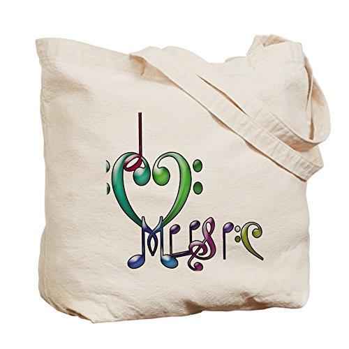 CafePress–I Love Musica–Borsa di tela naturale, panno borsa per la spesa