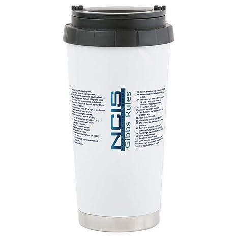 Amazon.com: CafePress – Gibbs Rules NCIS – Taza de viaje de ...