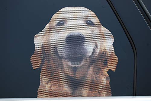 Doggie in the Window car and truck window dog decal - Golden Retriever