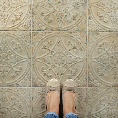 SomerTile FPESAJB Murcia Ceramic Floor and Wall Tile, 13'' x 13'', Blanco by SOMERTILE (Image #10)