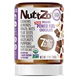 Nuttzo Organic Smooth Chocolate Power Fuel Seven Nut and Seed Butter, 12 Oz (1 Pack)