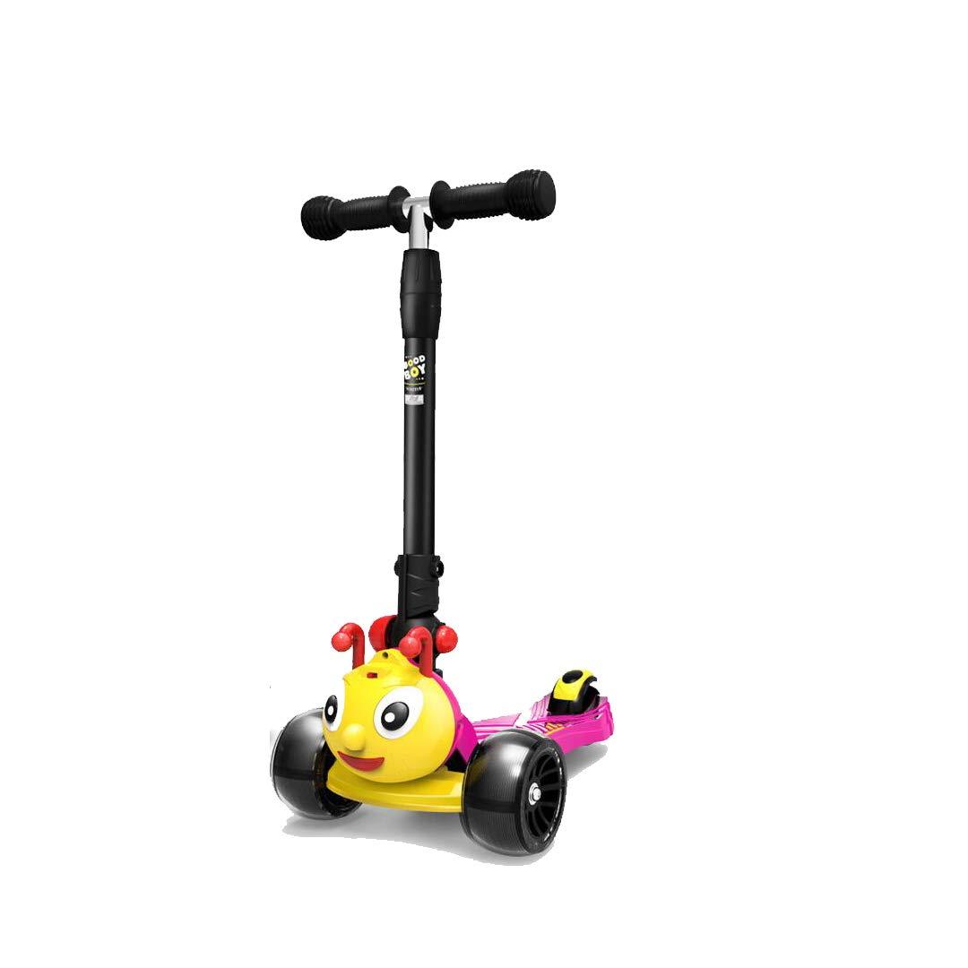 魅力的な価格 TLMYDD TLMYDD 子供用スクーター漫画四輪ミュージックフラッシュスクーター/かわいい幼虫スクーター 子供スクーター : (色 : 青) Pink B07NMH7HK7 Pink Pink, サイタチョウ:89abe5c9 --- a0267596.xsph.ru