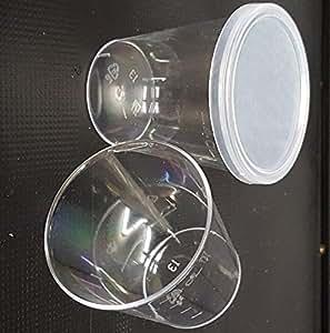 Pack de 100 vasos de chupito (50 ml, con tapa)