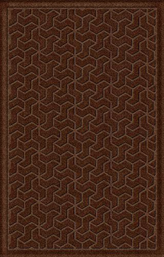 American Floor Mats Windmill Designer Floor Mat - Dark Brown 4' x 6' with Gripper Backing, Matching Fabric ()