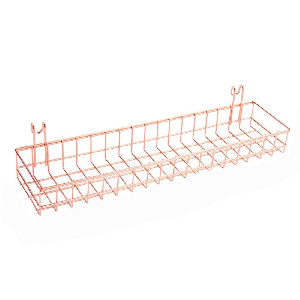 Zonyeo oro rosa cestino per Gridwal/griglia pannello appeso organizzatore filo di metallo mensola rack Decor Dimensioni 39, 9 x 9, 9 x 5, 1 cm 9x 9 9x 5 1cm