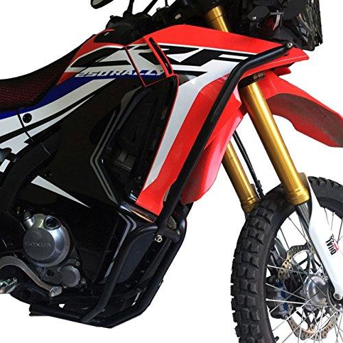 Inpreda FULL CRASH BAR (Skid Plate + Engine Guard Frame + Upper Fairing Crash Bar) Compatible with Honda CRF250 Rally ()