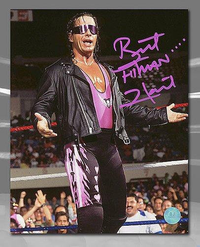 Bret Hitman Hart WWE Autographed Wrestling Sunglasses 8x10 Photo ()