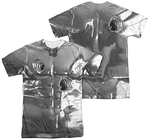 [Trevco Unisex-Adults Terminator 2 T1000 Costume Double Sided T-Shirt, White, X-Large] (Terminator T1000 Costume)