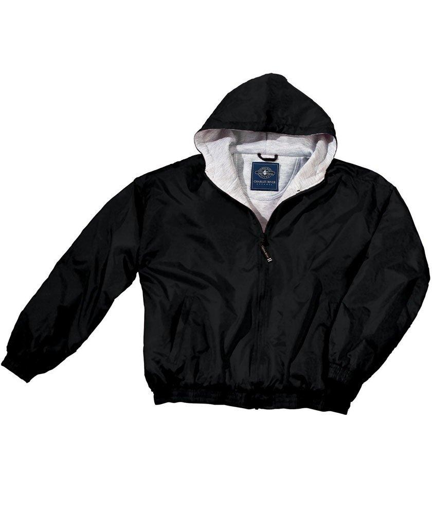 Charles River Apparel Kids' Big Performer Heavyweight Full-Zip Jacket, Black, XL