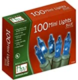 Holiday Wonderland Christmas Light Set, Blue, 100 Mini Lights