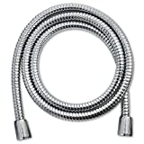 WaterChef Premium 60'' Stainless Steel Handheld Shower Hose - Odorless and PVC-Free (Polished Chrome)