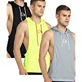 S-muscle Mens Professional Workout Stringer Hoodie Tank Tops With Top Network Fabric