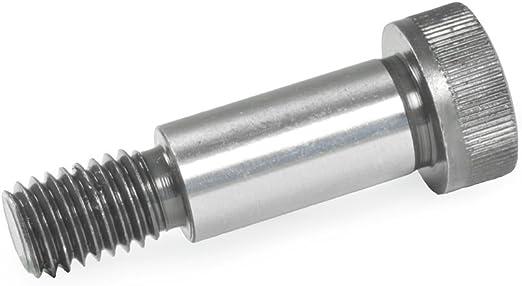 Silber 5 St/ück L/änge l1: 16mm Ganter Normelemente ISO 7379-12-M10-16 7379-12-M10-16-Passschrauben mit Bund