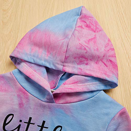 Toddler Baby Girls Tie-Dye Outfit Sweatshirt Top Hoodie Long Sleeve Shirts Mamas Girl Fall Winter Clothes
