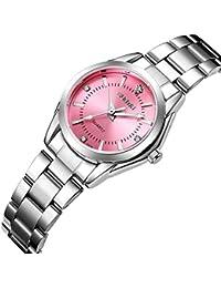 Women's Watches Gorgeous Luxury Dress Casual Fashion Waterproof Watches Diamond Rhinestone Quartz Wrist Watch-Pink