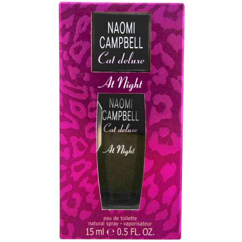 Naomi Campbell Cat Deluxe at Night Eau de Toilette Spray, 0.5 Ounce