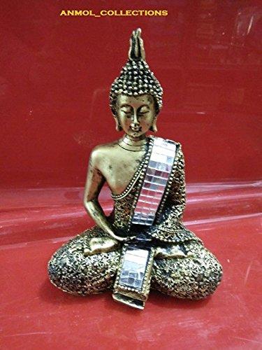 Estatua de buda religiosa india para escultura sentada de 15 cm, decoración para el hogar