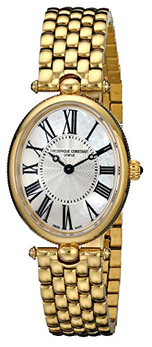 Frederique Constant Women's FC-200MPW2V5B Art Deco Classics Analog Display Swiss Quartz Gold Watch