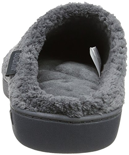 Gris Chaussons Isotoner grey Slippers Popcorn Terry Femme Mules OwPxnw