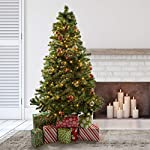 Prextex 6 Feet Premium Hinged Artificial Canadian Fir Christmas Tree Lightweight/Easy to Assemble with Christmas Tree Stand