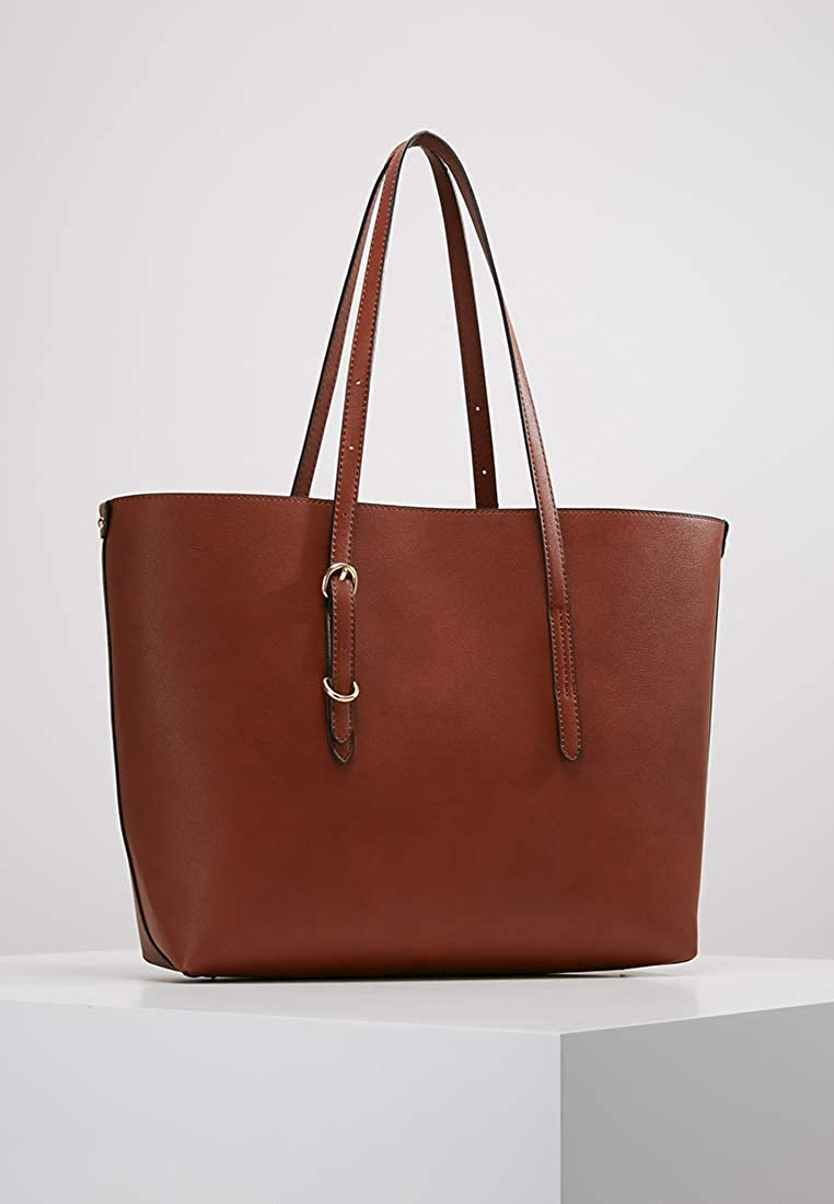 8587d22ac357 Anna Field Sac cabas spacieux pour femmes - Sac à main avec poignée  ajustable élégant en cognac  Amazon.fr  Vêtements et accessoires