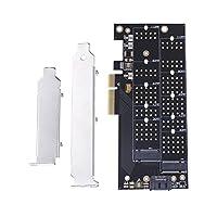 Occitop PCI-E 4x to NVMe M.2 NGFF B Key + M.2 NGFF M Key SSD Slot Adapter Card