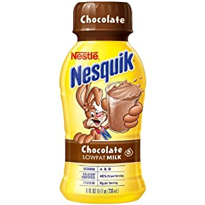 Nestle Nesquik Chocolate Lowfat Milk - 15/8 oz. Bottles