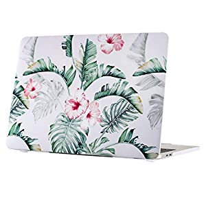 "Rubberized MacBook Pro 13 inch Case, TeenGrow Plastic Hard Laptop Case Shell Compatible Mac Pro 13"" 2016 2017 2018 Release A1706/A1708/A1989, Banana Leaf"
