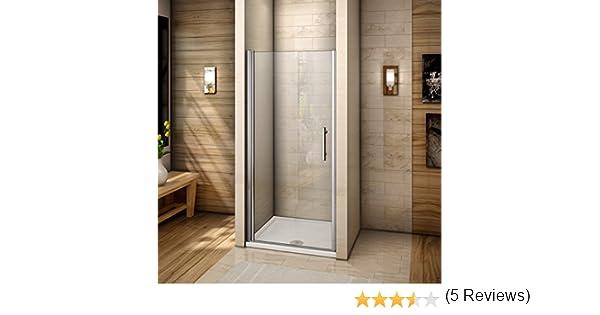 Mampara de ducha con puerta abatible de cristal antical: Amazon.es: Bricolaje y herramientas