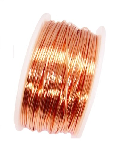 20 Ga Solid Copper Wire 4 Oz 88 Feet (Half Hard) on Spool (Round 20 Ga)