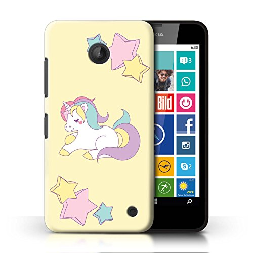 STUFF4 Phone Case / Cover for Nokia Lumia 635 / Pony Stars Design / Fantasy Unicorn - For 635 Phone Cases Girls Nokia