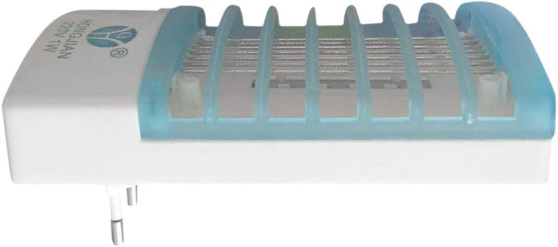 Garciaria Eco Friendly Inodore LED UE Prise Prise /électrique Moustique Mouche Insecte pi/ège Nuit Lampe Tueur Tueur Zapper r/épulsif Anti-Moustique Couleur: Multi Couleur