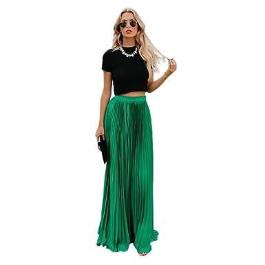 SODIAL Todas Las Temporadas Mujeres Moda Vintage Cintura Alta ...