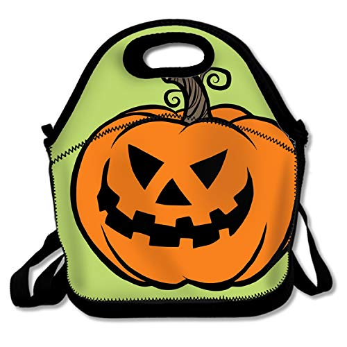 shunshunfeng Reusable Soft Lunch Tote 11x6x11 Gourmet Lunch Tote Evil Halloween Pumpkin]()