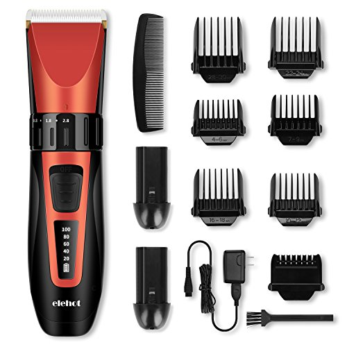 Hair Clipper Trimmer Cordless Cutting Grooming Kit with LCD Display,Two Rechargeable & Replaceable Batteries,Stainless Steel Blades for Men & Women (Clippers And Trimmers)