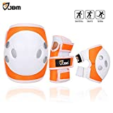 Toys : JBM Child Kids Bike Cycling Bicycle Riding Protective Gear Set, Knee and Elbow Pads with Wrist Guards Multi-sports: Rollerblading, Skating, Volleyball, Basketball, BMX (Nylon Cloth Orange, Child/kids)