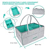 Baby Diaper Caddy Organizer Nursery Storage Bin and