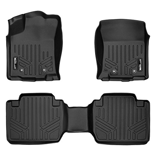 MAXLINER Custom Fit Floor Mats 2 Row Liner Set Black for 2018-2019 Toyota Tacoma Access/Extended Cab