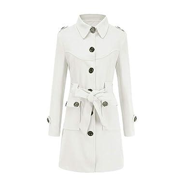1f0f9b08b Amazon.com  Womens Long Paker Coat ,Winter Warm Women Woolen Coat ...