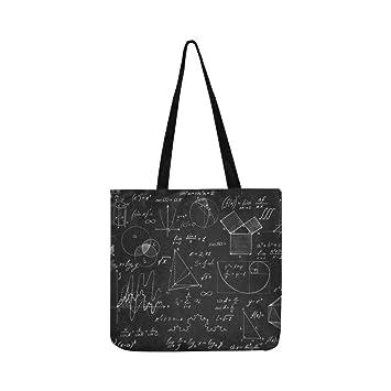 Pizarra Gráficos matemáticos y fórmulas Lienzo Tote Bolso ...