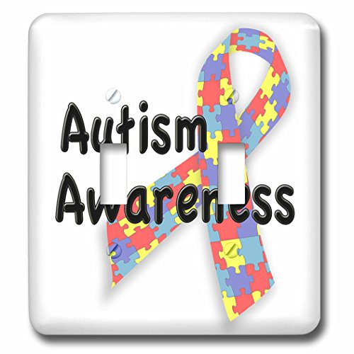 EvaDane - Quotes - Autism Awareness - Light Switch Covers - double toggle switch (lsp_113704_2)