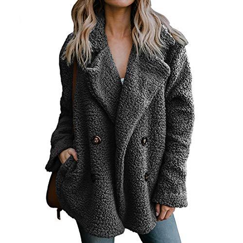 Fluffy Coat Fleece Fur Jacket Shearling Jacket Faux Fur Fuzzy Coats Women Petite Trendy Tops for Women 2018 Cute Outfits DGR_M