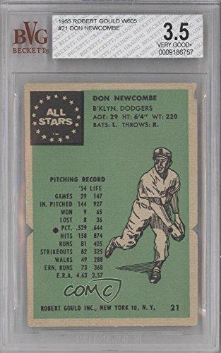 Don Newcombe BVG GRADED 3.5 (Baseball Card) 1955 Robert Gould - W605 ()
