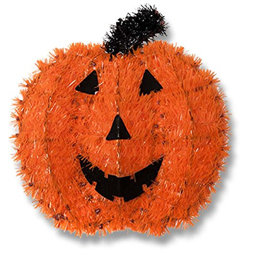 Halloween House Halloween Tinsel Wall Plaques Assorted Colors and Designs - 2 Pack